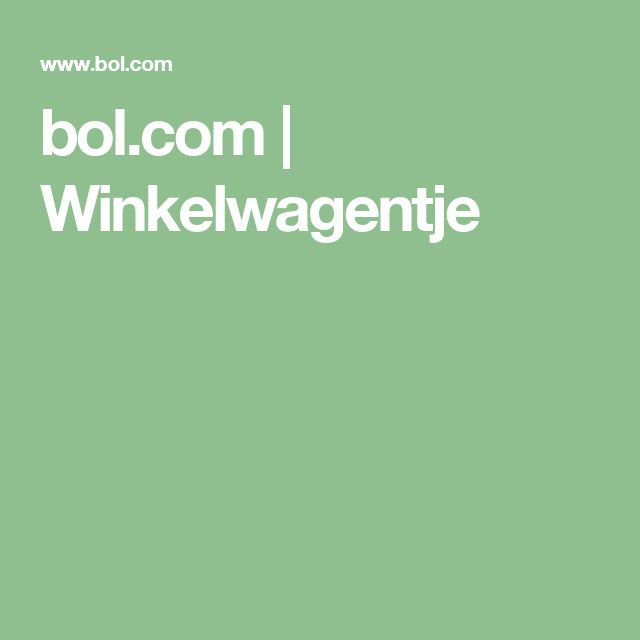 bol.com | Winkelwagentje