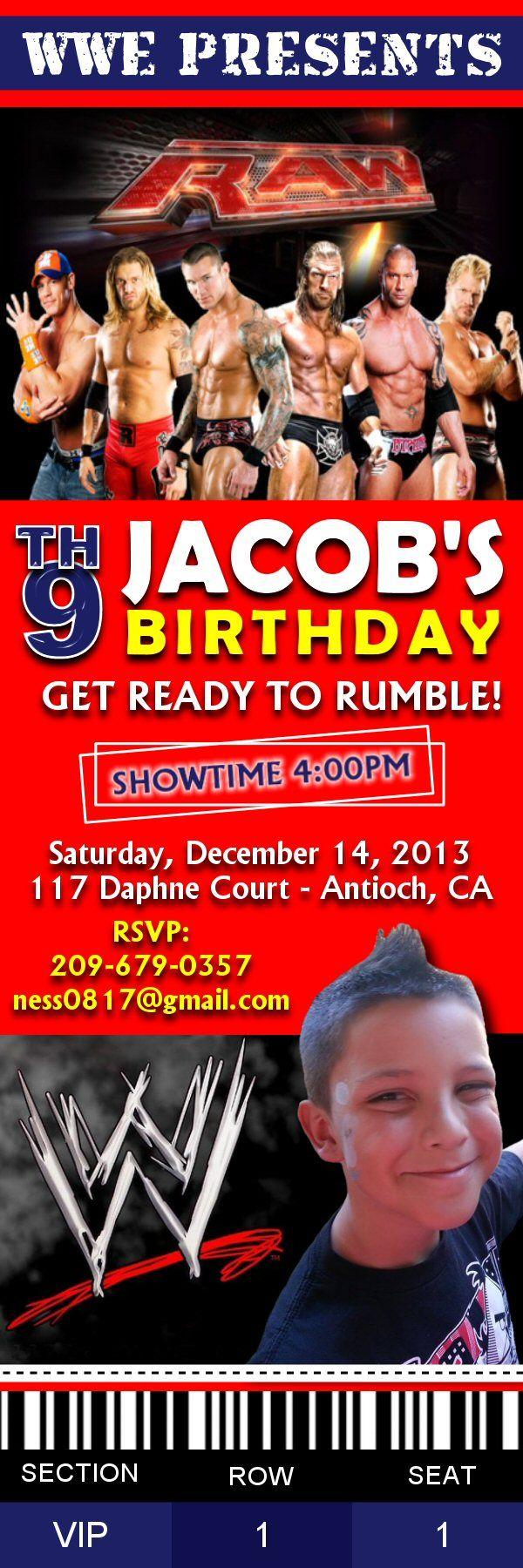 Ticket Invitation - 2x6 size www.facebook.com/uprintinvitations #invite…