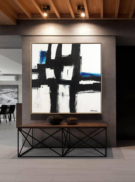 Original Large Abstract Painting Textured Palette Knife