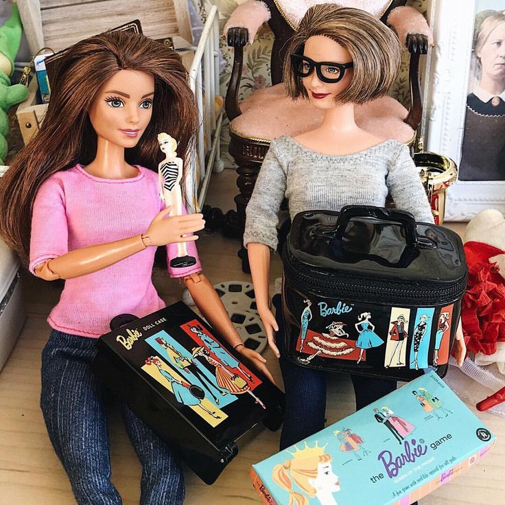We found my old Barbie stuff in the attic. Have you ever