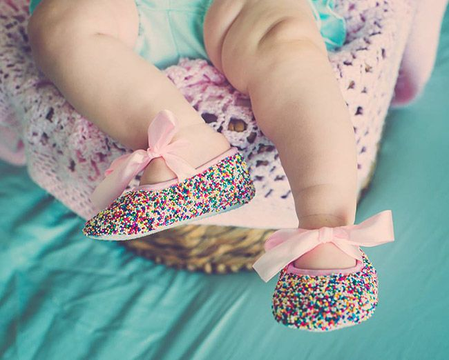 Mila- Sprinkle Baby Shoes
