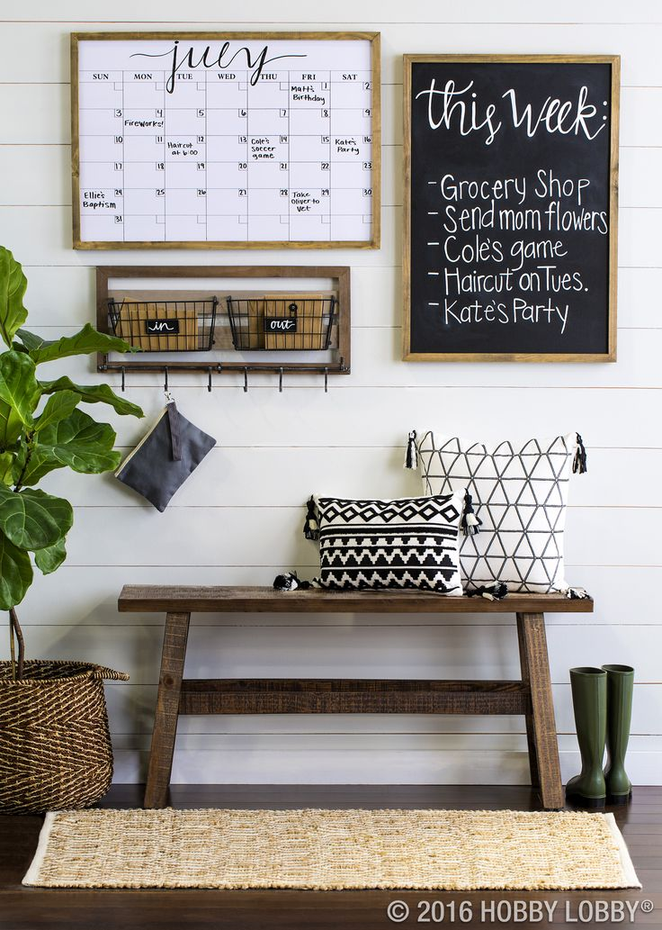 Keep your family organized & up-to-date with an on-trend command center.                                                                                                                                                     like this ideas with taller paper organizers for mail instead