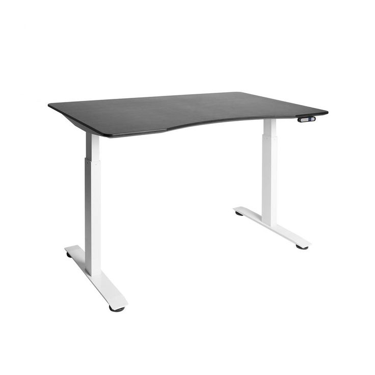 Airlift White Base with Black Ergo Table Top S2 Electric Height with Adjustable Standing Desk, White/Black