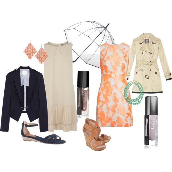 Outdoor Wedding Outfit Ideas: What To Wear To A Rainy Outdoor Wedding By Julep, Via