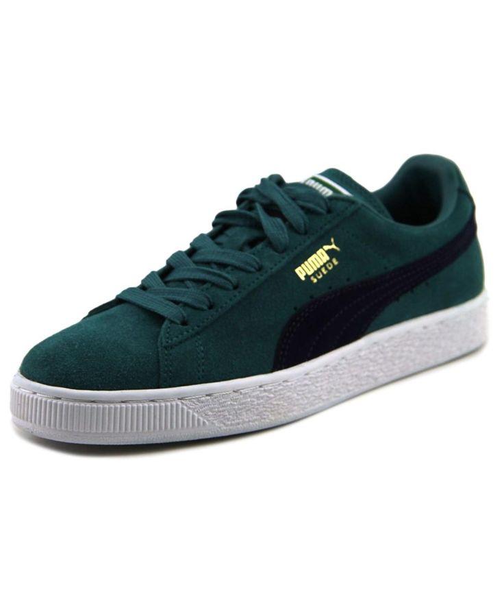 PUMA Puma Suede Classic Men Round Toe Suede Green Sneakers'. #puma #shoes