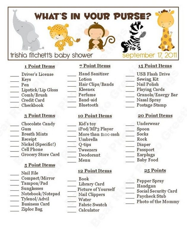 Baby Shower games 10