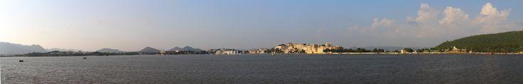 vue panoramique de Pichhola Lake, Udaipur, Inde