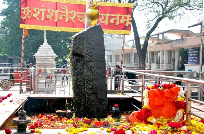 A shrine of Lord Shani that protects the locals of Shani Shingnapur,  and is located at 35 km from the ahmadnagar city, Maharashtra. Shingnapur is also famous for the fact that no house in the village has doors, only door frames. Despite this, no theft is reported in the village.