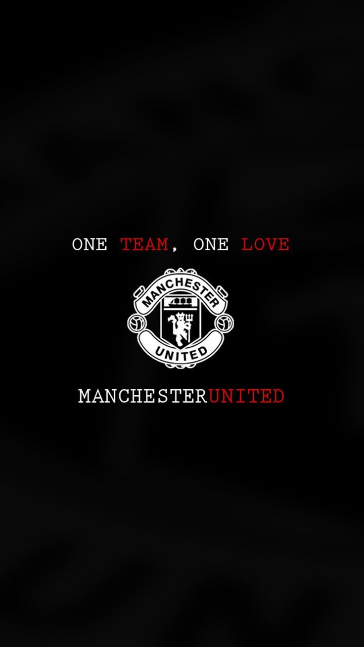 Apple Iphone 6 Plus Wallpaper In Hd With Manchester United Logo In Black And White Hd W Manchester United Logo Manchester United Manchester United Football