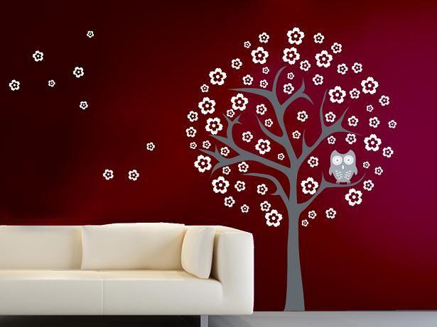 maroon living room ideas: wallpaper