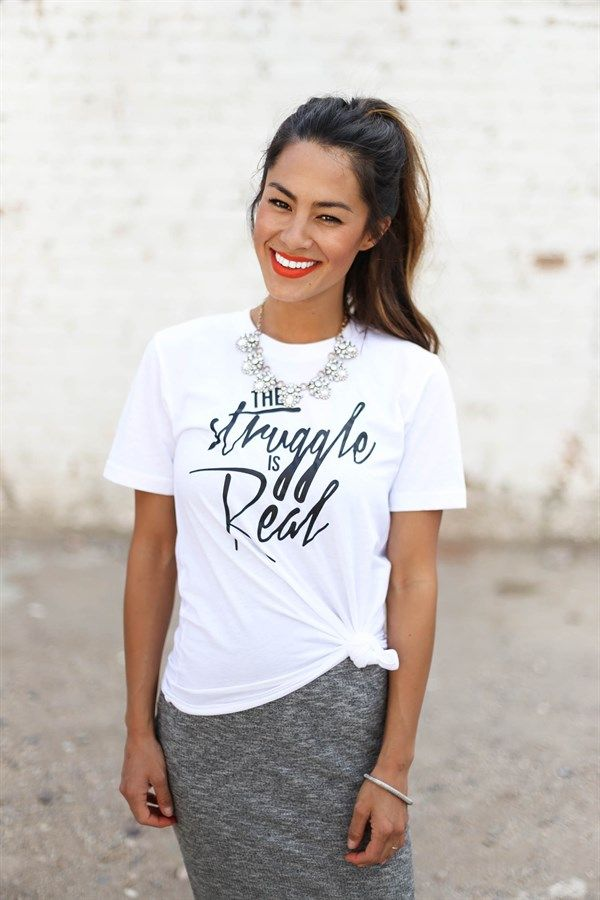 Layering Graphic Tees - 7 Great Prints - Perfect for Fall! | Jane