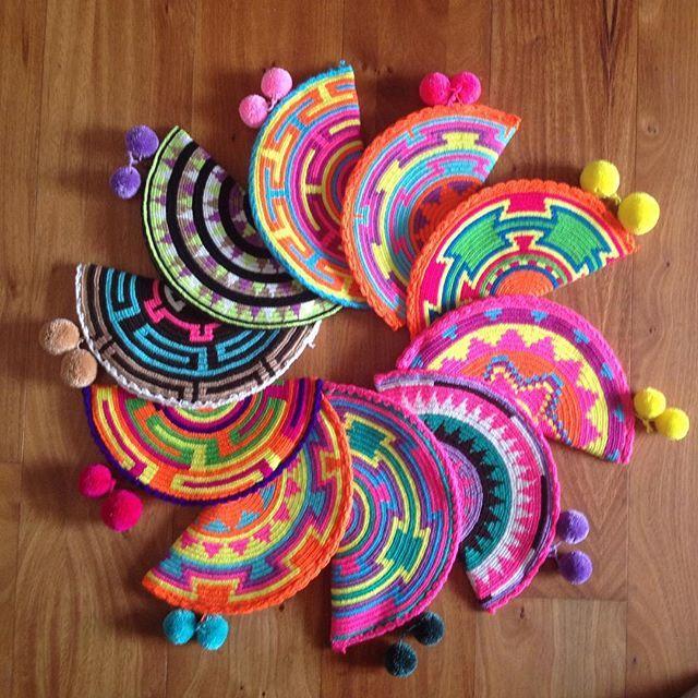 :heart: if you love these babies! #wayuubags . Only $40 on my website for a limited time. Free shipping to the US! :love_letter:www.Lombiaandco.com #mochilaswayuu #wayuulifestyle#wayuubags #bohochic #colombianbags #wayuumochilas #wayuubag #yogafashion #wa