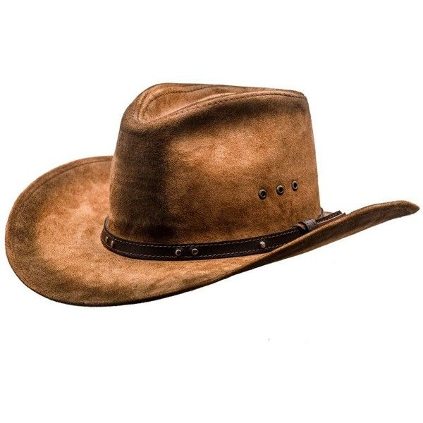 leather-cowboy-hat-brown.jpg (800×800) ❤ liked on Polyvore featuring accessories, hats, brown hat, western hats, leather hat, brown cowboy hat and western style hats