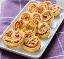 Recette - Petits feuilletés roulés à la moutarde, jambon et gruyère - Proposée par 750 grammes