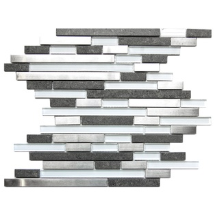 Mosaic tile-Stainless Steel & Glass