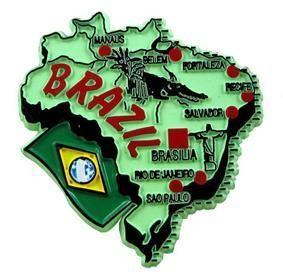 MGI Companies, Inc. - Brazil - International Country Shaped Map Magnets, $2.89 (http://www.internationalgiftitems.com/brazil-magnetic-map)
