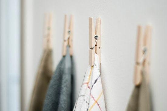 wäscheklammer holz ideen für wandhaken zum selbermachen