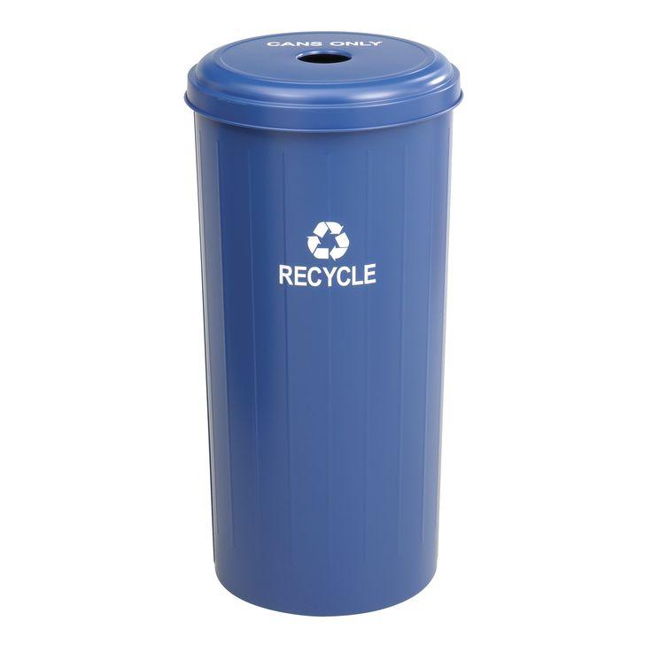 Tall Round 20-Gal Industrial Recycling Bin