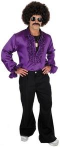 Mens 1970s Purple Ruffled Disco Shirt Fancy Dress.. http://www.partyonfancydress.co.uk/details.asp?ID=975