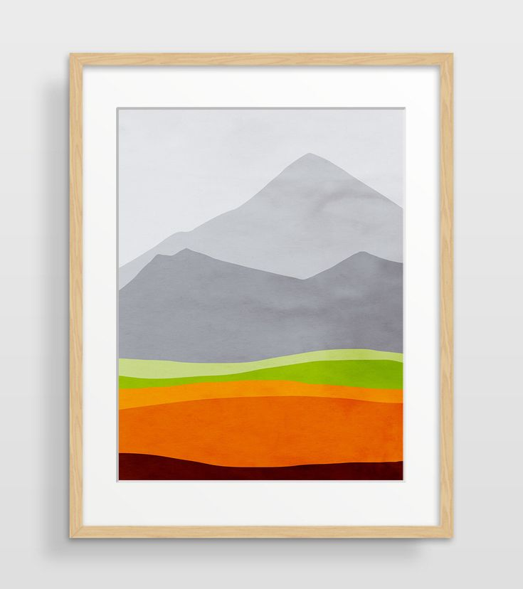 Mountain Print, Mid Century Modern Art Print, Abstract Watercolor Print, Scandinavian Art, Mountain Art, Abstract Landscape by evesand on Etsy https://www.etsy.com/ca/listing/164485545/mountain-print-mid-century-modern-art