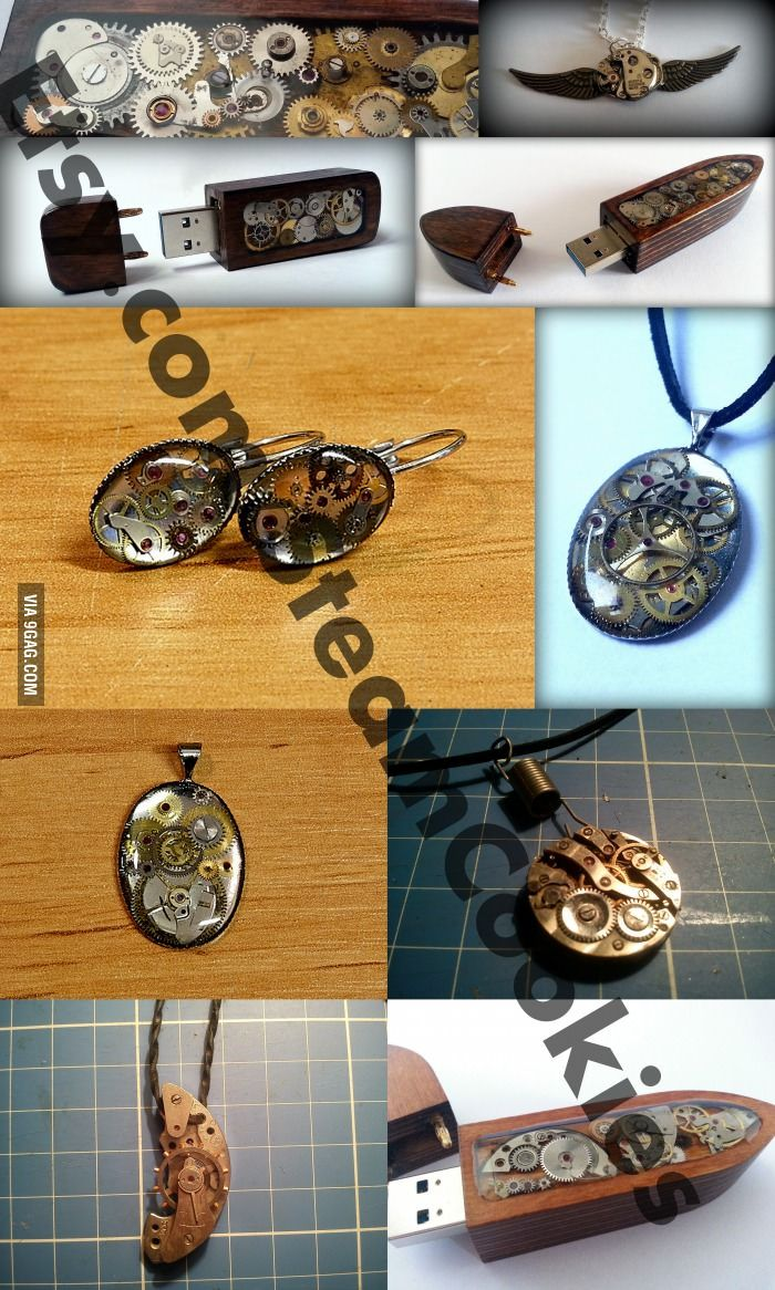 Creative way of using old watchparts.
