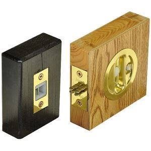 Johnson Hardware Auto Latching Pocket Door Lock.