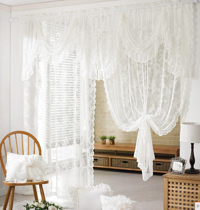 best 25 white lace curtains ideas on pinterest. Black Bedroom Furniture Sets. Home Design Ideas