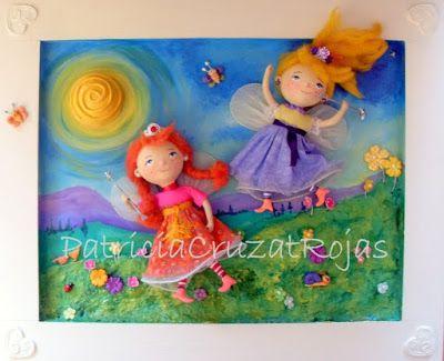 Patricia Cruzat Artesania y Color: Hadas en el Jardín y el Sol