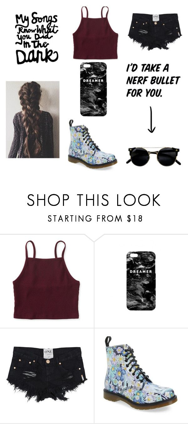 """""""Slay!"""" by emmaowen03 ❤ liked on Polyvore featuring Aéropostale, Mr. Gugu & Miss Go and Dr. Martens"""