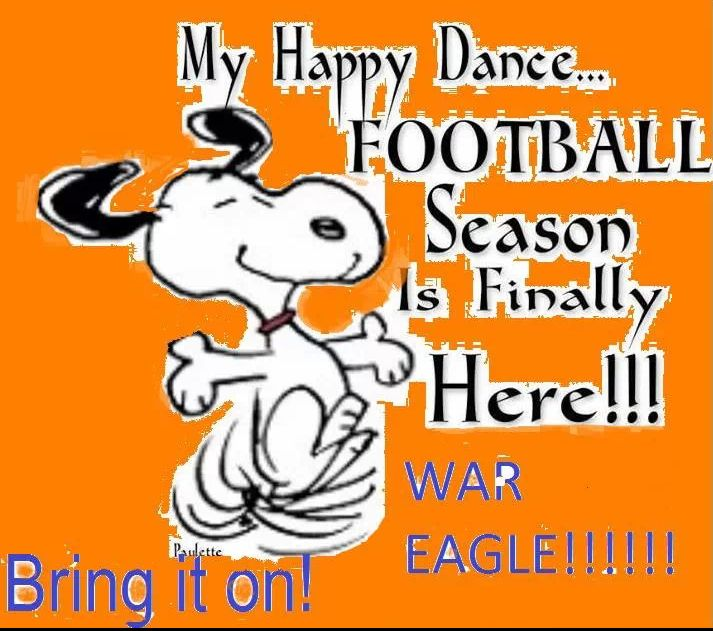 Happy Day When Football Season Starts Again! #WarEagle www.RollTideWarEagle.com Check out our blog and football rules tutorial with fun quizzes at the end. Learn more about the game you love. #CollegeFootball