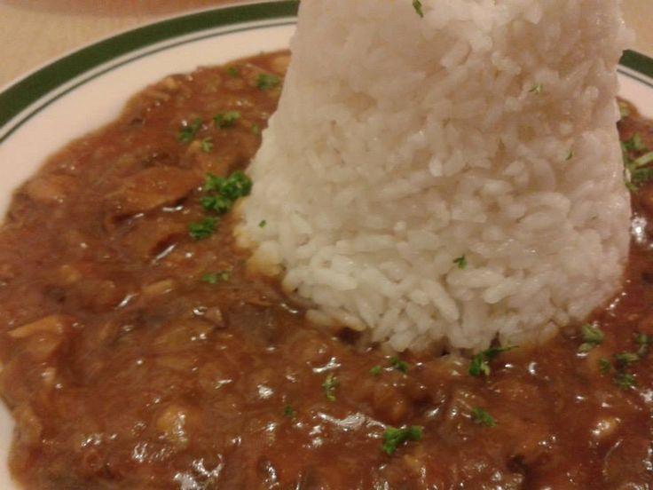 Houbový guláš s rýží