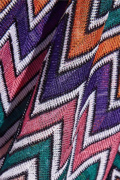 Missoni - Metallic Crochet-knit Playsuit - Lilac - IT