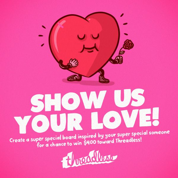 Win $400 in Threadcash for showing some love!  Click the pin to find out how.