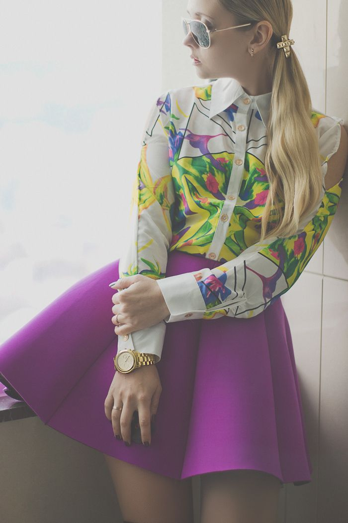 My Blonde Gal: Neoprene skirt