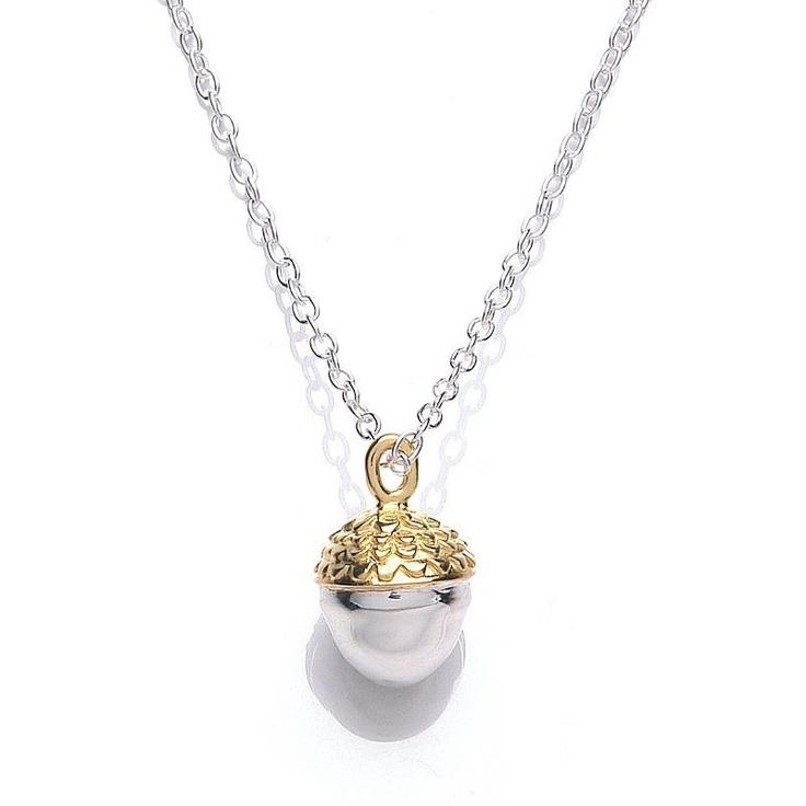 Daisy Vintage Acorn Necklace at aquaruby.com