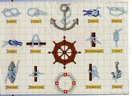 patrones punto de cruz marineros - Buscar con Google