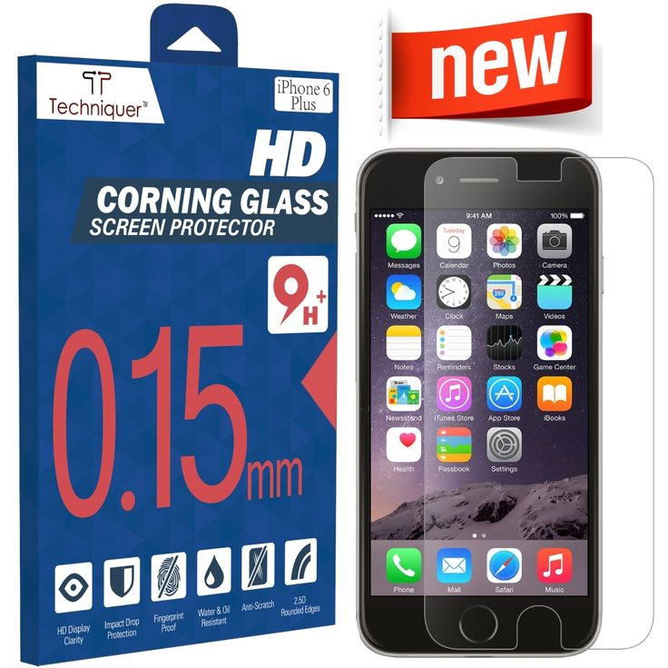 """iPhone 6 Plus Corning Gorilla Tempered Glass Screen Protector Kit[5.5""""] ONLY 0.15mm, 9H, Oleophobic Surface, 2.5D, Anti-Scratch, Anti-Glare, Fingerprint-Proof,& Water Resistant. Only at Amazon: http://www.amazon.com/iPhone-Tempered-Screen-Protector-Thinnest/dp/B00RK7YIEA"""