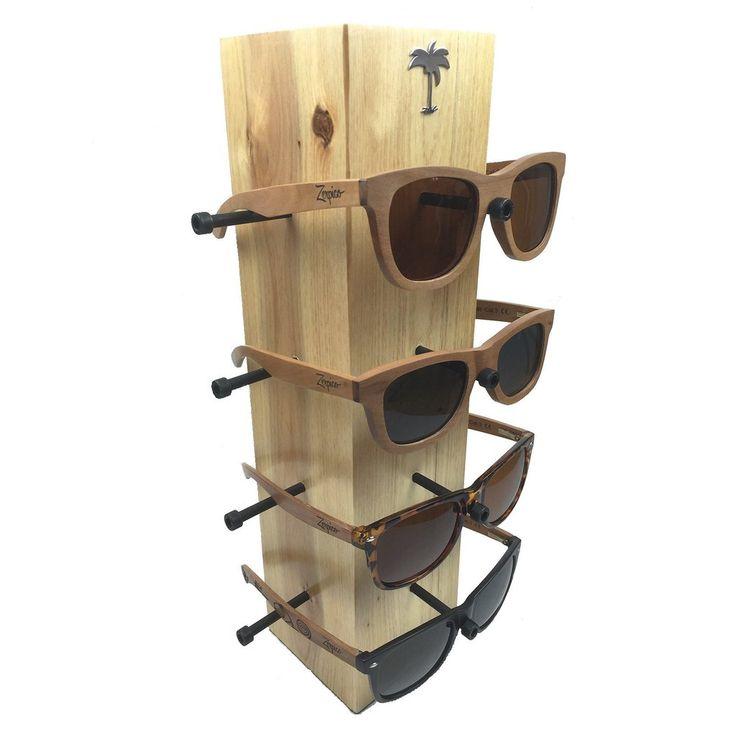 Wooden Sunglasses Display