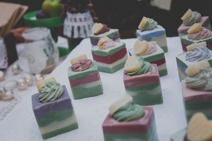 Wedding favours - soaps made of natural and organic ingredients
