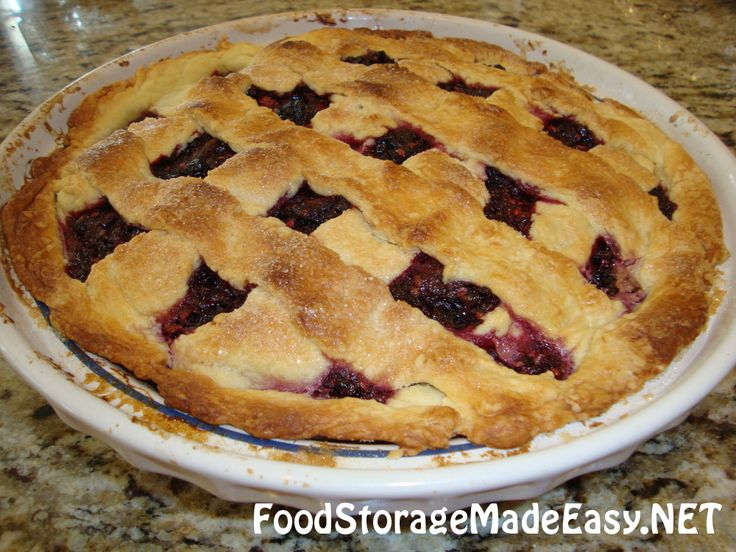 Ever wondered how to use fruit from your food storage to make pie? Wonder no more. This was delicious!