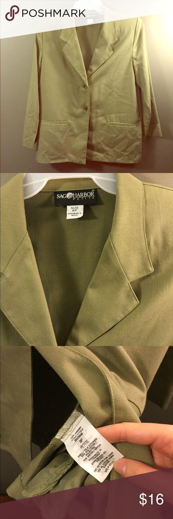 Sag Harbor Sage Green Petite Blazer Jacket 8 ☀️ Excellent condition! Thank you for looking!  #ygwyt002 Sag Harbor Jackets & Coats Blazers