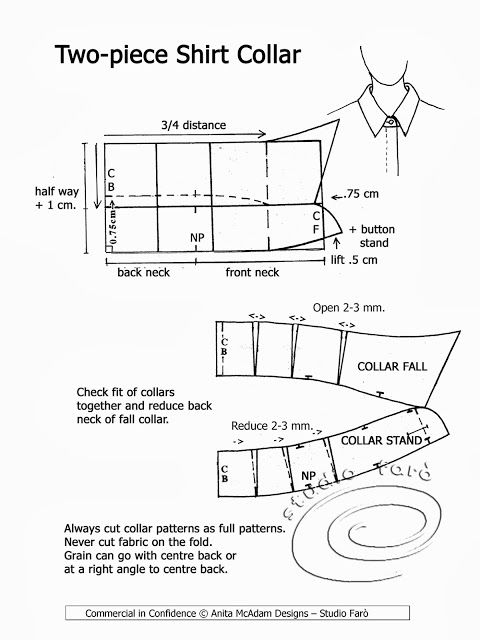 Shirt Collar and collar-stand curves