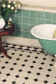 I have black and white floor and backsplash tiles. I'm looking for a wall color. Mint? Tiffany Green?