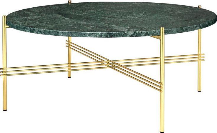 GUBI+-+TS+Lounge+bord+grøn+marmor+-+Ø80++-+