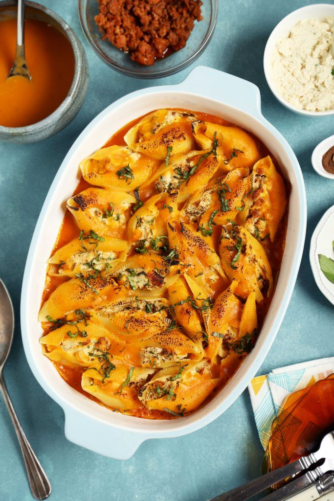 Stuffed shells, Butternut squash and Cauliflowers on Pinterest