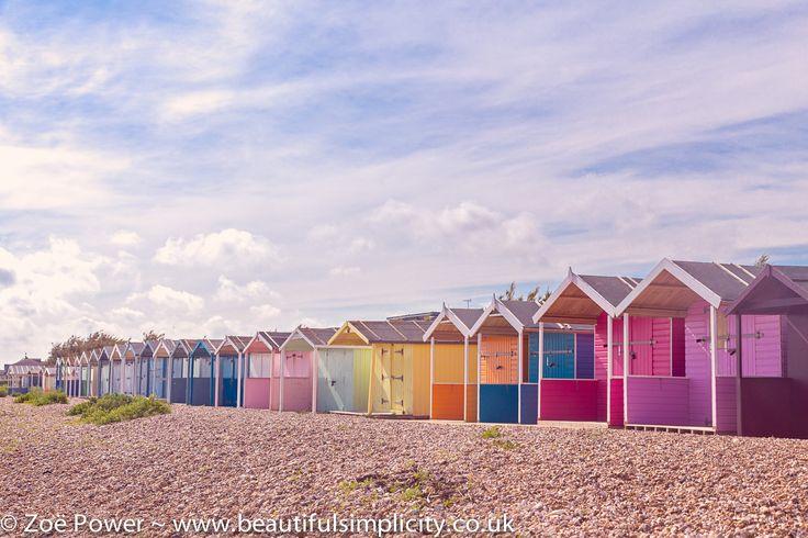 https://flic.kr/p/uNBguG | Colourful beach huts near East Preston, West Sussex *1* | Blogged: www.beautifulsimplicity.co.uk/blog/2015/6/18/beach-hut-hu...