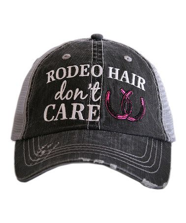 Love this Gray & Hit Pink 'Rodeo Hair' Trucker Hat on #zulily! #zulilyfinds