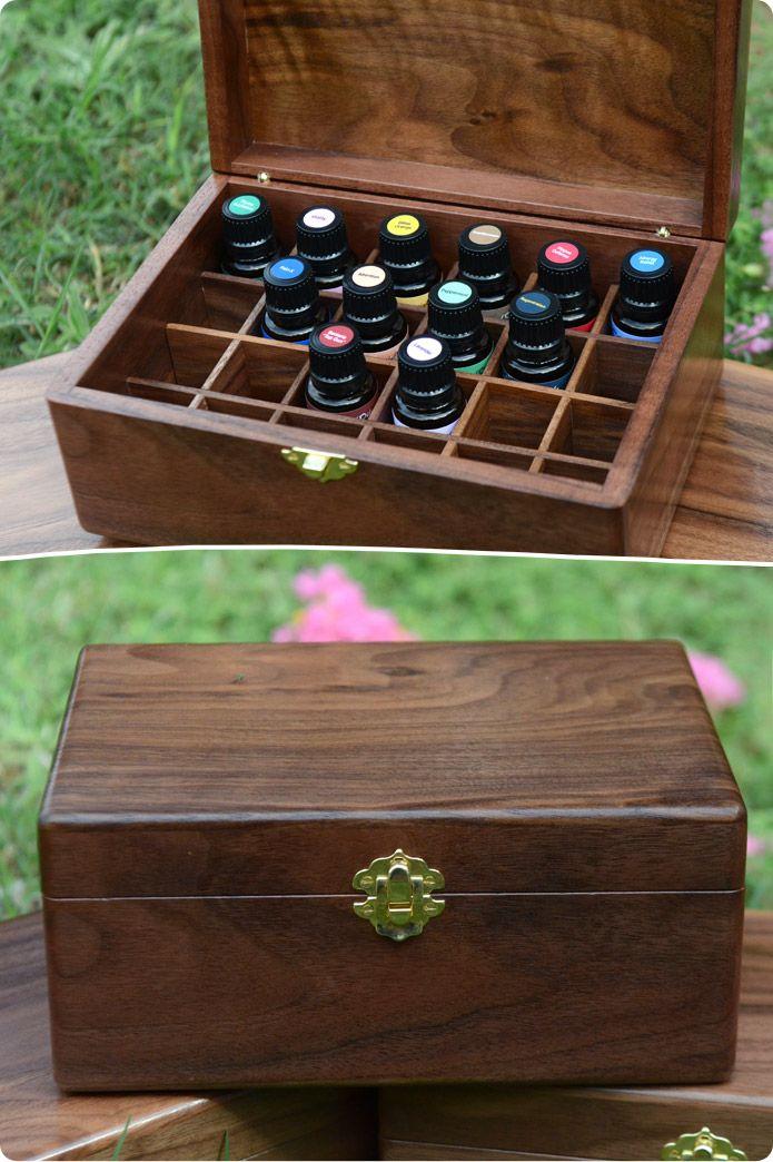 Hard Wood Essential Oil Storage Box I could turn my