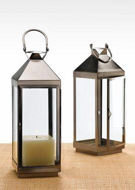 12in Matte Pewter Square Lantern | Jamali Floral U0026 Garden Supplies