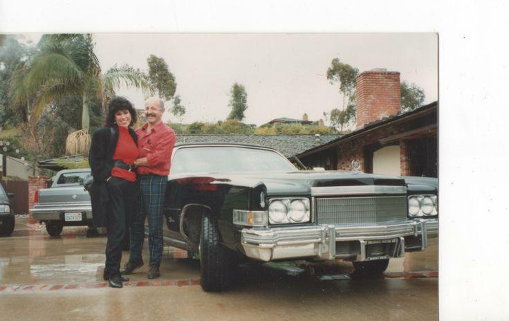 Me buying a 1974 Cadillac Eldorado Convertible from an attractive  artistic model in La Jolla ,San Diego in 1990